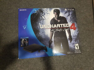 Sony Playstation Ps4 Uncharted 4 Console EMPTY BOX ONLY