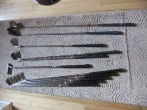 Assorted men's golf clubs for sale