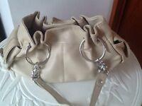River Island little cream handbag