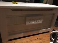 White handmade toy box