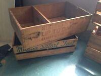 Old Vintage Original Wooden Apple Boxes
