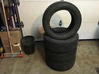 4- 205/55/r16 snow lion winter tires lots of tread $450