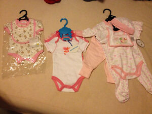 New baby girl clothes lot