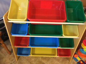 TOY BINS IN STAND - SOLD PPU