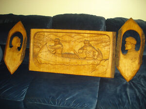 hand carved sculpture wall hangings West Island Greater Montréal image 1