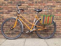 Single speed vintage ladies mixte bike bicycle