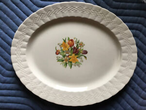 Vintage Serving Platter and gravy jug made in England