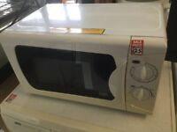 Small white and cream Microwave Oven