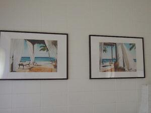 2 grands tableaux -image et cadre
