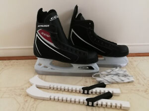 MINT Mens CCM Intruder Ice Skates Size 9 w Blade Guards