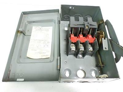Square D 600v 30a Safety Switch Hu362 Ser D2