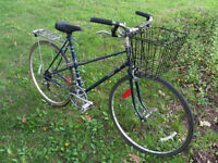 Adult vintage Raleigh commuter bicycle