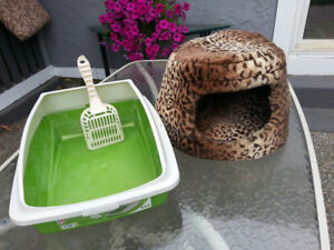 Cat bed and litter box