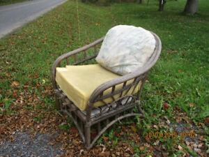 Free Wicker Set-Chair and Loveseat