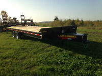 New Pintle Hitch Deck-over Equipment Hauler trailer