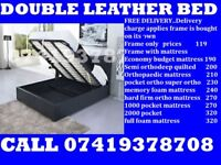 ORDER NOW BRAND NEW DOUBLE LEATHER BED