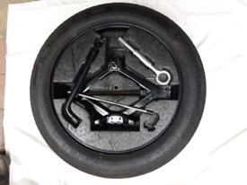 Volvo space saver wheel, jack, towing eye and wheel spanner