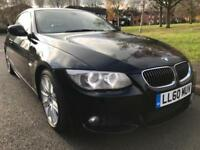 BMW 325 D 2 DOOR COUPE 3.LITRE DIESEL (2010 60) BLACK M SPORT