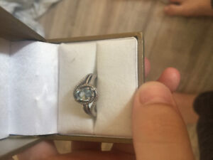 Pure sterling silver aquamarine birthstone ring