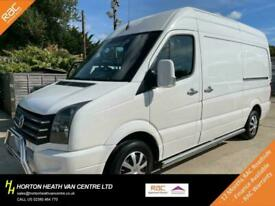 VOLKSWAGEN CRAFTER CR35 MWB HIGH ROOF-RARE AIR CON-CHROME KIT-HEAT SCRN-1 OWNER