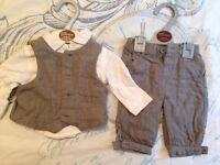 Newborn boys formal outfit