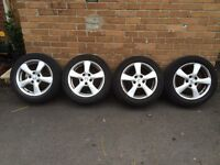 "Honda Civic 16"" alloys with tyres"