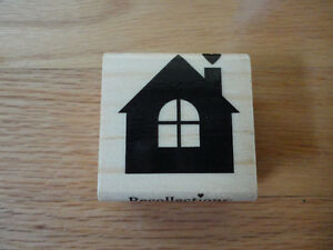 STAMPIN UP RECOLLECTIONS RUBBER STAMP HUT HOUSE HEART NEW