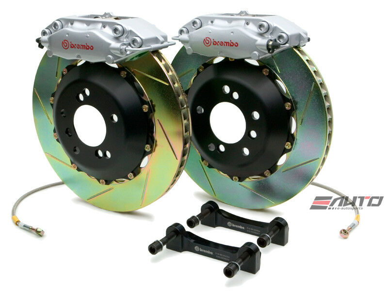 Brembo Rear Gt Big Brake Bbk 4piston Silver 328x28 Slot Disc Bmw E36 M3 95-99