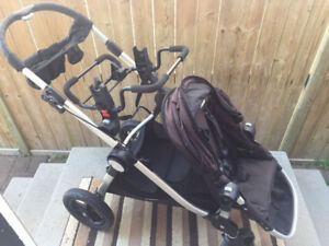 city select with second seat pegs,one seat and car seat adapter