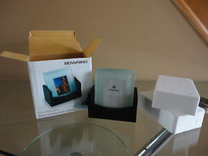 Brand new in box Bowring set of 4 glass photo coasters London Ontario image 5