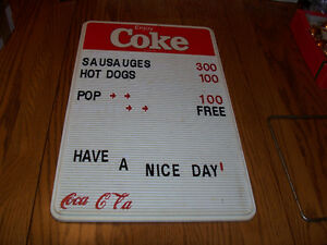 Vintage Coke Menu Board