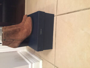 Cole haan- Davenport bootie -Great deal on olive suede boots