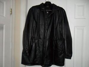 womans leather coat