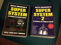Doyle Brunsons Super Systems Books (the ultimate poker bibles)