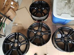 BMW Black Rims + Tires