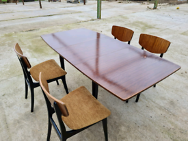 Retro table and chairs set