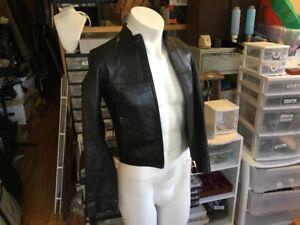Veste en cuir M0851 pour femme taille XXS