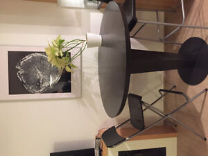 Black high top dining table for sale
