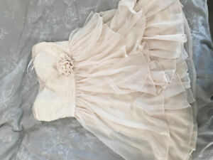 Peach/Nude Strapless Dress, Size Large, Never Worn