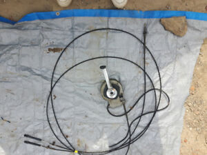 Throttle Cable Set up for a 19' Boat