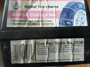 Tire chains for car - new