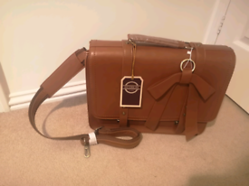 Ecosusi vegan brown faux leather satchell
