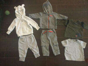 Baby hoodies, pants and shirts 6 months