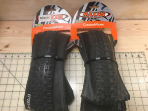 "Pair of Maxxis ""Crossmark"" Mountain Bike Tires"