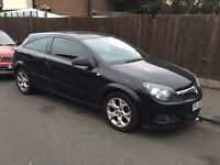 2008 BLACK VAUXHALL ASTRA 1.4 SXI 3 DOOR COUPE