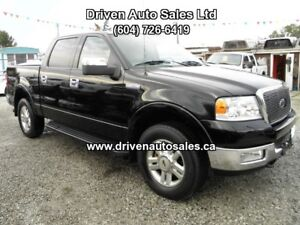 2004 Ford F-150 Lariat Leather Sunroof Crew Cab 4x4 Pickup Truck