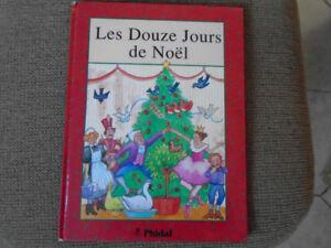 livre  pour enfant les douze jours de Noel