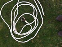 Boat mooring rope with heavy splice