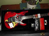 Joe Satriani 20th anniver electric guitar silver surfer MINT NEW