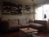 Large Grey Fabric Corner Sofa x can deliver